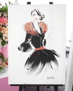 beautiful fashion illustration by Kerrie Hess, via Fashion Illustration Portfolio, Illustration Art, Fashion Illustrations, Kerrie Hess, Megan Hess, Watercolor Fashion, Watercolour, Illustrators On Instagram, Fashion Sketches