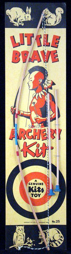 Little Brave Archery Kit Archery, Brave, Nostalgia, Kit, Baseball Cards, Toys, Bow Arrows, Activity Toys, Field Archery