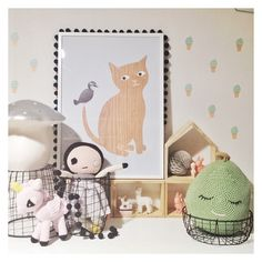 Invite Me boutique interior: Party, gift, design store in Melbourne. Egmont Toys toadstool lamp, Bad Eye Lilly Lucky Boy Sunday doll.