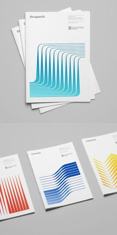 Hey Studio is quickly becoming one of my favorite design agencies. This identity for the Catalonia Ministry of Enterprise and Labour is stellar. The cover illustrations are metaphors that represent…