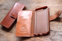 Wallet iPhone case leather iPhone 7 case 4 card slots | Etsy Iphone Leather Case, Iphone Wallet Case, Iphone 7 Cases, Leather Diy Crafts, Leather Craft, Leather Keychain, Leather Wallet, Leather Engraving, Leather Jewelry