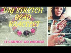 Diy lucky beads stretch bracelets! Easy tutorial (you cannot go wrong with string and beads!)