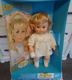 NOS!  1960s/70s SOFTINA DOLL with Poster  EEGEE Baby Doll Drinks and Wets