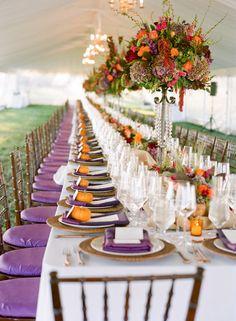 purple & orange decor