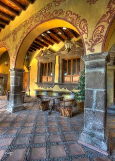 Lodging for Guest Overflow Spanish Home Decor, Spanish Style Homes, Spanish House, Spanish Colonial, Hacienda Decor, Hacienda Homes, Hacienda Style, Mexican Courtyard, Mexican Hacienda
