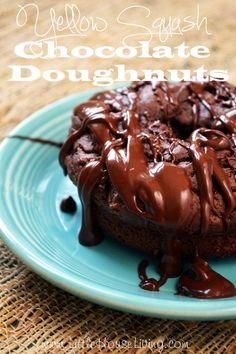 Yellow Squash Chocolate Doughnut Recipe. You HAVE to try this recipe! Your family will never know there are veggies in them!