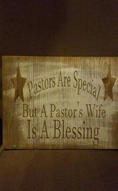 Pastor's Wife wood pallet sign, pastor's wife gift, pastor's wife is a blessing sign, pastors are special wood sign, rustic home decor Gifts For Pastors, Pastors Wife, Pastor Appreciation Month, Appreciation Gifts, Secret Sister Gifts, Gifts For Wife, Thank You Pastor, Pastor Anniversary, Church Fellowship