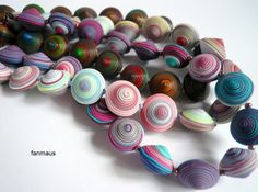 Tatiana Begacheva on The Polymer Arts blog. A unique and colorful way to use scraps of clay. www.thepolymerarts.com