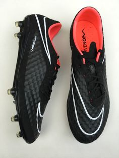 Nike Hypervenom Phantom FG Neymar Jr Authentic Soccer Cleats Blackout  599843-016 7a362f0be650a