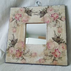 Mirror Hand decorated & Hand painted by HandMadeHarmonyArt on Etsy Decoupage, Wooden Spoon Crafts, Paisley Art, Shabby, Sweet House, Wallpaper Pictures, Diy Frame, Corporate Gifts, Mirrors
