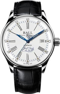 Ball Watch Company Trainmaster Endeavour Chronometer Aligator Limited Edition- Watch Available to buy online. Free Delivery - - In Stock. Online Watch Store, Watch Companies, Metal Bracelets, Luxury Watches, Cool Watches, Leather, James Cook, Smart Watch, Presents