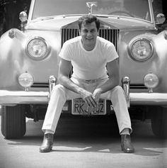 Tony Curtis, (father of Jamie Lee Curtis)who was nominated once. Pictured with his Rolls Royce, 1961.Ralph Crane
