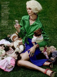 Luma Grothe is a Bad Mommy by Zee Nunes for Vogue Brazil November 2013