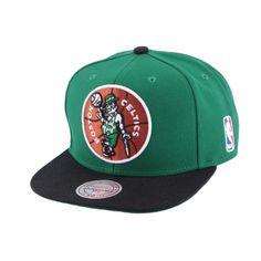 Snapback Boston Celtics Mitchell & Ness Verte #mode #nba #streetwear #promo avec Hatshowroom.com
