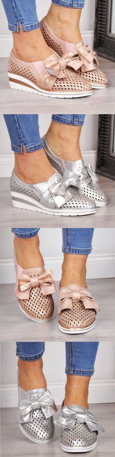 Summer bowknot sneakers is part of Plus Size fashion Models - Buy 2 Get OFF Code Item ID Upper MaterialFaux Leather Shoes StyleSlipOn Heel HeightLow (> Comfy Shoes, Cute Shoes, Comfortable Shoes, Me Too Shoes, Casual Shoes, Shoes Sneakers, Shoes Heels, Canvas Sneakers, Flats