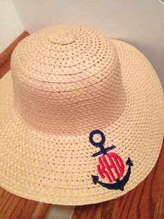 34ee3f4c37b Items similar to Monogrammed Floppy Summer Hat on Etsy. Travel OutfitsTravel  ...
