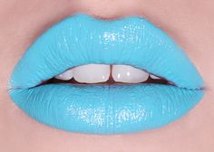 -Blue lips for robot adults, is a lot like a futuristic styled look, that's all for adults makeup as they have an eye/head piece