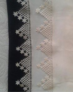 This Pin was discovered by Mün Crochet Lace Edging, Crochet Borders, Crochet Squares, Needle Tatting, Needle Lace, Needle And Thread, Baby Knitting Patterns, Hand Knitting, Knitting Needles