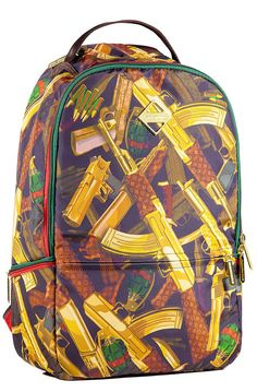 The Designer Guns Backpack in Multi use rep code: OLIVE for 20% off
