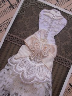 Dress Form Cards | Mannequin Dress Form with Bustle Handmade Card - Suitable for Any ...