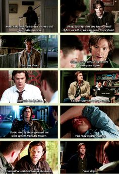 I watch Supernatural and this still caught me off guard! Oh, Sam, how I love you.