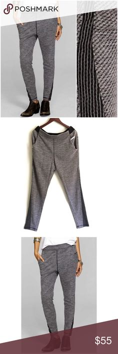 New Free People Knit Pants ▫️Free People Pants ▫️Textured knit pants  ▫️Side pockets ▫️Elastic side and back waistband ▫️Color: Gray Black  ▫️Ankle length (see measurements) ▫️New Never Worn 🚫No Trades🚫 Free People Pants