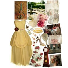 Beauty and the Beast Themed Wedding (Yellow dress as bridesmaid dress idea)