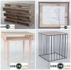 Old Pallets Ideas The useREuse develops furniture by reusing pallets. Get a sustainable product and give more style to their environments! Wooden Pallet Bar, Free Wood Pallets, Pallet Desk, Old Pallets, Recycled Pallets, Pallet Furniture, Furniture Projects, Furniture Making, Pallet Tables