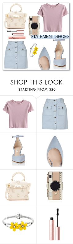 """""""Statement shoes"""" by lynksmichelle on Polyvore featuring MINKPINK, ZAC Zac Posen, Kate Spade and Too Faced Cosmetics"""