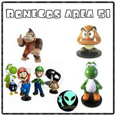 Bonecos Area 51 de resina
