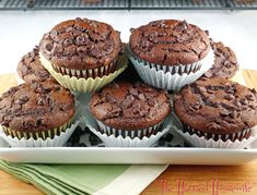 Double Chocolate Muffins « The Harried Housewife
