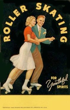 10. Summer Game or Sport: Roller Skating (not really ... it's baseball ... but I like the picture) Chicago Roller Skate Co. postcard ca. 1940