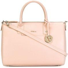 Furla Medium Linda Tote (¥31,405) ❤ liked on Polyvore featuring bags, handbags, tote bags, pink tote handbags, furla tote bag, furla purses, pink purse and furla