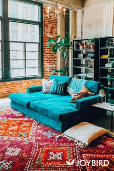 Interior Living Room Design Trends for 2019 - Interior Design Home Living Room, Living Room Decor, Living Spaces, Bedroom Decor, Hippie Living Room, Living Area, Design Apartment, Studio Apartment, Apartment Therapy