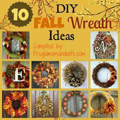 Frugal Mom and Wife: 10 DIY Fall Wreath Ideas!