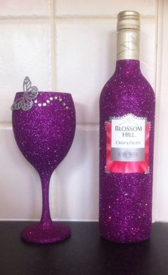 Glittering wine glass