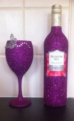 Glittering wine glass