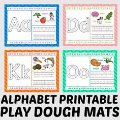Your little learners will have hours of fun with these alphabet themed play dough mats! {Free for a limited time!}