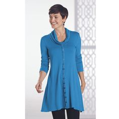 French Terry Button Tunic - Women's Clothing, Unique Boutique Styles & Classic Wardrobe Essentials