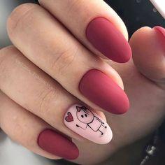 Top 20 New Nail Art 2019 - New Nail Models - women fashion Fabulous Nails, Perfect Nails, Cute Acrylic Nails, Cute Nails, Pink Nails, My Nails, Valentine Nail Art, Trendy Nail Art, Classy Nails