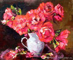 """Купить Картина маслом """"Блистательные розы"""" в интернет магазине на Ярмарке Мастеров"""