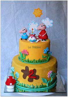 peppa pig's cake