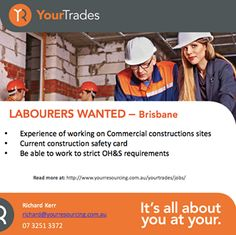 Looking for Building Construction, Civil, Shopfitting, Mechanical & Electrical Jobs in Brisbane, Gold Coast? Contact YOUR Trades which is specialized recruiting for labour hired.