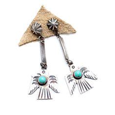 Thunderbird Spirit Vintage Native American Earrings