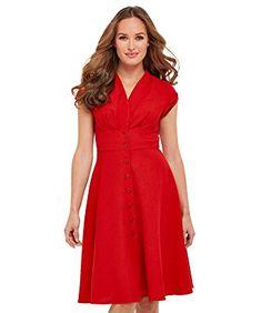 ec801a76e68e Joe Browns Damen Leinen-Mix Hemdblusenkleid mit Flügelärmeln  Amazon.de   Bekleidung