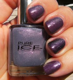 Pure Ice polish in busted over warm plum/wine shade.