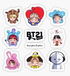 """Drop (sticker sheet edition)"""" Stickers by graphicfighter Pop Stickers, Tumblr Stickers, Printable Stickers, Bts Chibi, Kpop Diy, Bts Pictures, Photos, Kpop Drawings, Bts Merch"""
