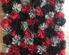 Check out our pom pom rug selection for the very best in unique or custom, handmade pieces from our shops. Pom Pom Rug, Rugs, Diy, Handmade, Farmhouse Rugs, Hand Made, Bricolage, Do It Yourself, Rug