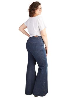 Faster and Fastener Jeans in Plus Size | Mod Retro Vintage Pants | ModCloth.com