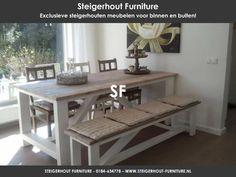 mooie steigerhout eettafel